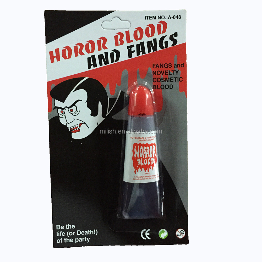HH-0579 wholesale halloween decorative horror fake blood and vampire fangs