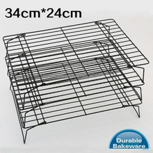 34*24cm hanging rack 3 layers kitchen tools cake foldable stackable cooling rack