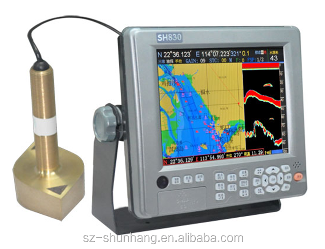 Marine GPS chart plotter fishfinders China sounder navigation 8inch SH-830 with sonar