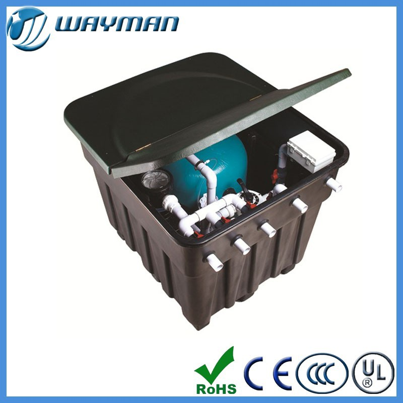 Intergrative wall-hung pipeless swimming pool filter