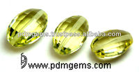 Natural Lemon Quartz Beads Cut From Manufacturer