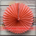 "12"" Orange Coral Tissue Paper Flower Rosette Fan Decoration"
