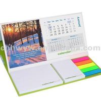 Table Calendar With Sticky Notes Pad
