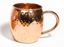 Hammered Moscow Mule Solid Copper Mugs With No Tin or Nickel Lining