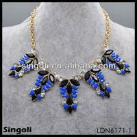 Names Of Black Precious Stones Blue Sapphire Gemstone Fashion Jewelry Necklace