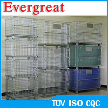 Evergreat 5.8mm or 6.0mm gauge Heavy Duty Steel Mesh Pallet Storage Cage