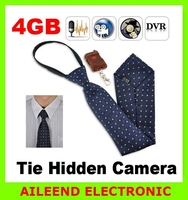 FUNOC Mini Spy 4G Hidden Neck Tie Covert Camera With Wireless Remote Control