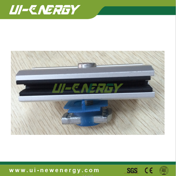 solar thin film panel clamp for solar roof mounting system