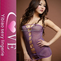 stylish design purple beauty transparent nighty young girls sexy underwear strapless tempt
