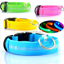 Pet products led collar new design nylon pet led collar