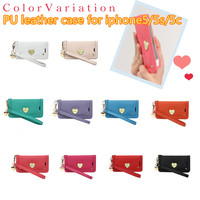klogi leather case for iphone5/5s/5c Sweet Heart Series Hand Straps 10 Colors