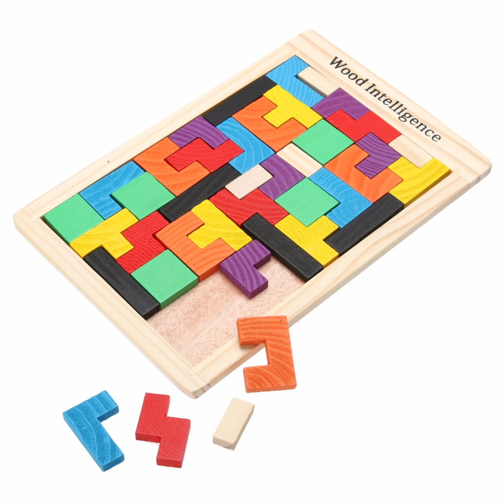 Wooden Puzzles Toy Tangram Brain Teaser Puzzle Cartoon Jigsaw Toys for Children Kids Educational learning education Toys