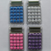 novelty promotional gift mini pocket size bubble shape silica gel calculator/pocket size 8 digital ecectronic calculator