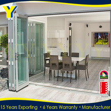 YY AS2047 standard partition for banquet hall glass aluminum folding door