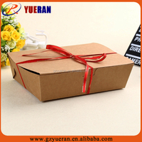 custom high quality custom printed paper box wholesales, folding paper box food