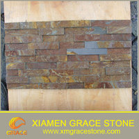 Natural rusty slate tile cultural stone exterior decorative wall stone