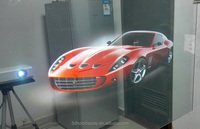 Self Adhesive Holographic Film / 3D Holographic Display / Transparent Window Film Advertising Product