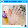 Customized order transparent biodegradable plastic gloves