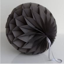 round black paper honeycomb ball for party decorations