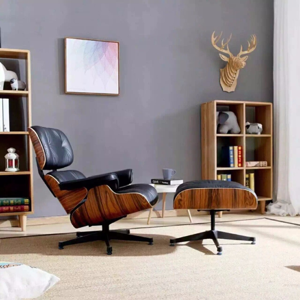 Modern classic leather emes lounge <strong>chair</strong> in living room <strong>chair</strong>