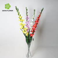 Long stem silk flower wholesale factory artificial gladiolus