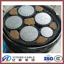 underground super high voltage 220KV cross-link PE fire retardant aluminum alloy electrical / power cable with STA/ SWA armor