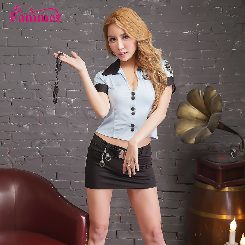 Trade assurance sexy police officer girl uniform halloween costume for party