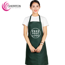 Free printing logo customized 100 polyester apron for advertising and promotion on factory price