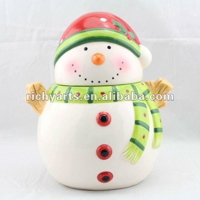 hei er verkauf weihnachten keramik keksdose mit schneemann. Black Bedroom Furniture Sets. Home Design Ideas