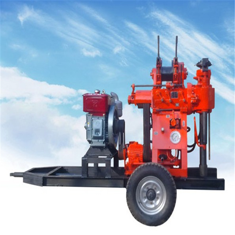Easy to operate core drilling machine diesel engine water well drilling rigs