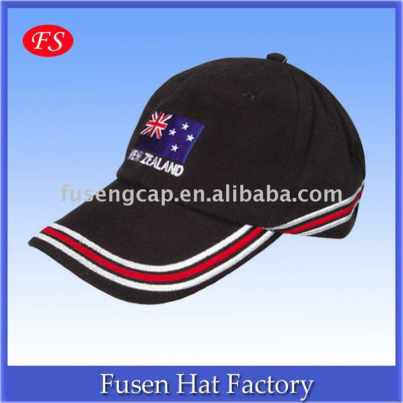 Black Cotton 6 panels sailor hat baseball hat