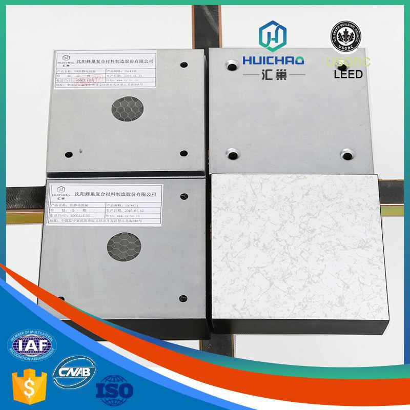 HC-OA 100% cycle used easy to install factory price high strength aluminum honeycomb anti static floor
