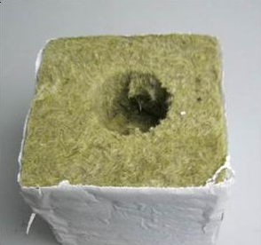 High Quality Agriculture Rockwool Hydroponic Grow Cubes with 1.5'' size Hole