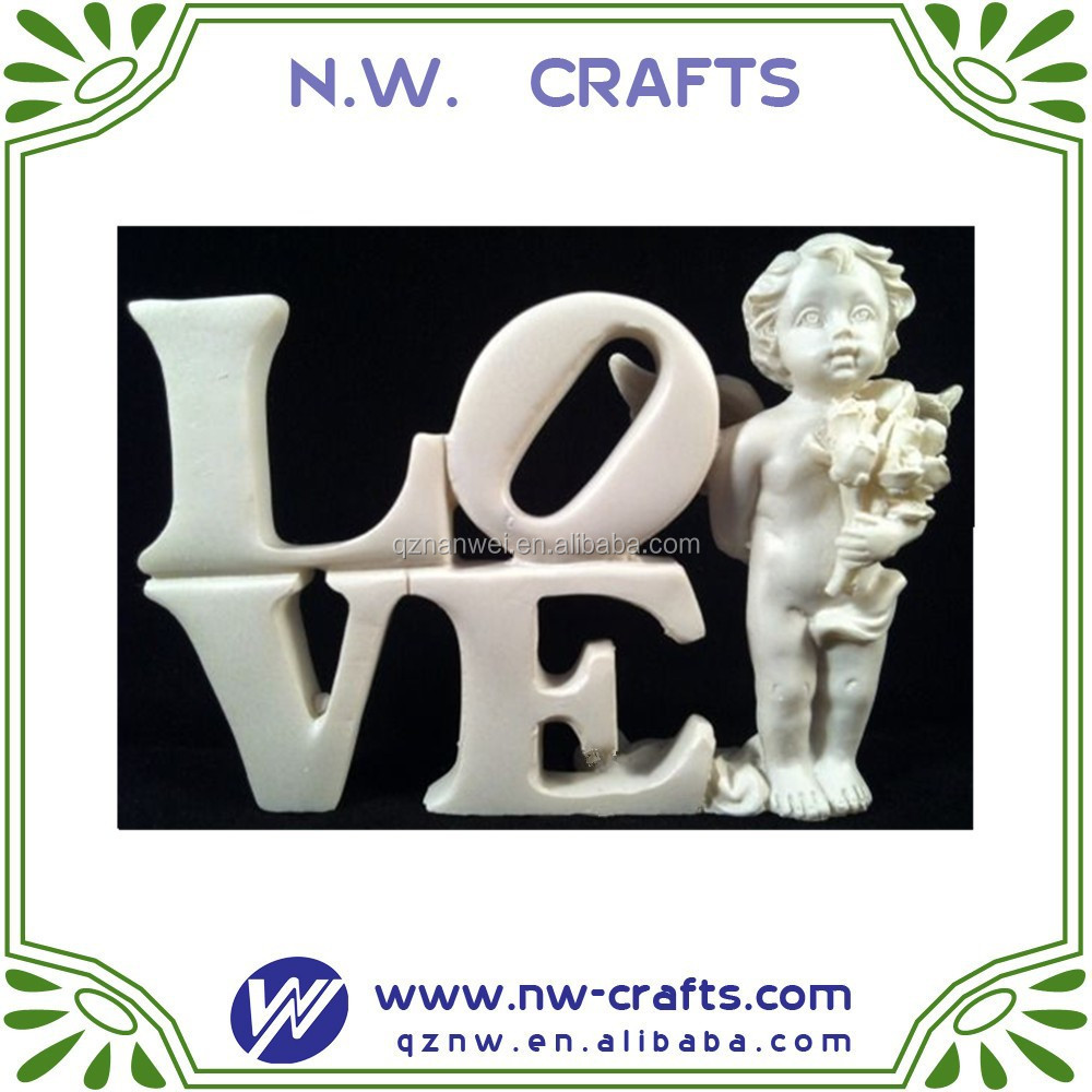 Resin love angel figurines miniature