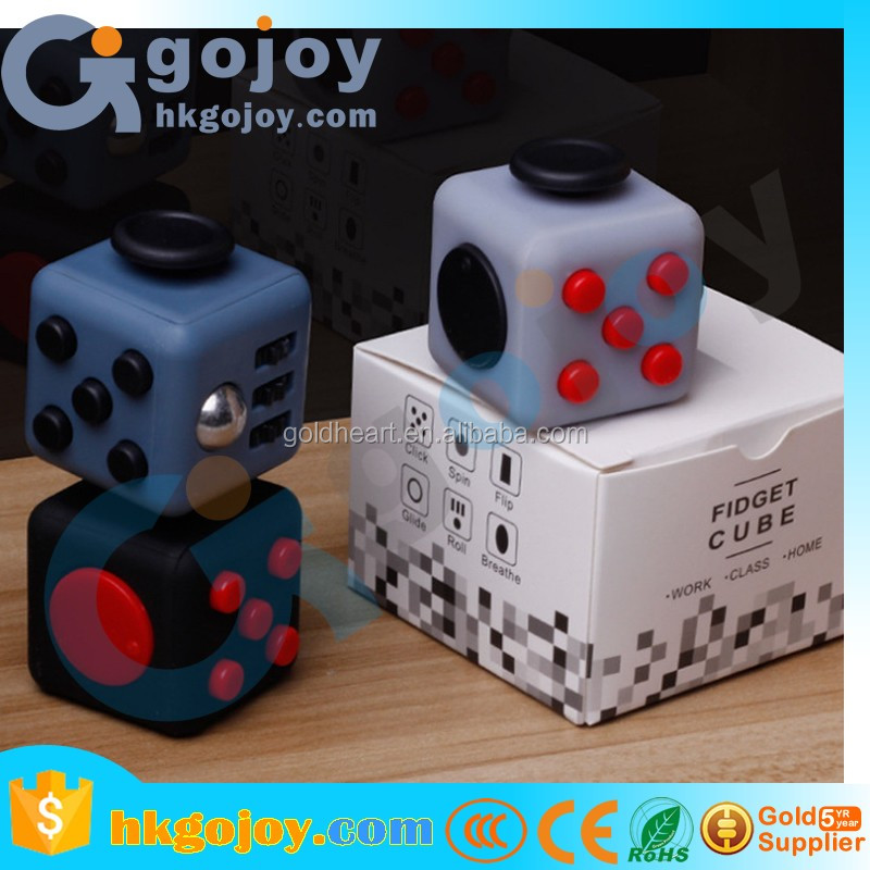 hot items 2017 new products fidget spinner Details about Fun Fidget 6 Sided Cube hand spinner desk toys for adult and kids