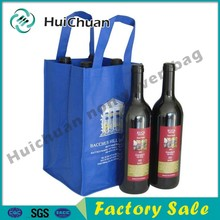 Selling customized logo printing reusable non woven wine drink carry bags for wine