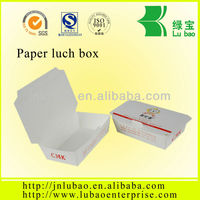 disposable paper lunch box for rice and noodles