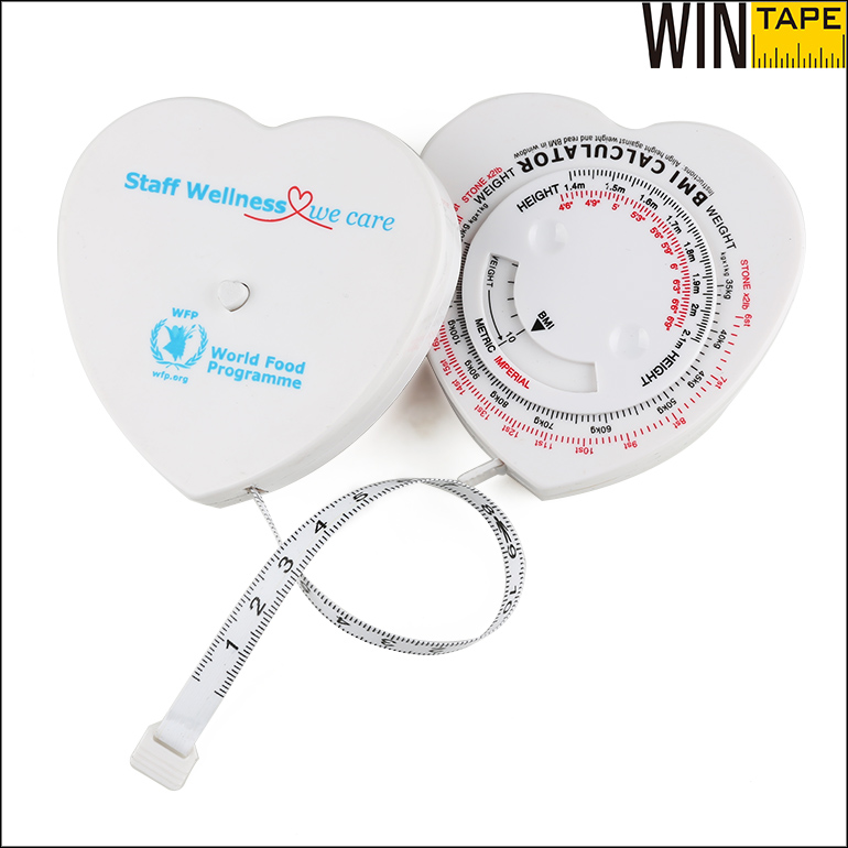 corporate gifts 2016 specialty advertising items heart shape body bmi tape measure