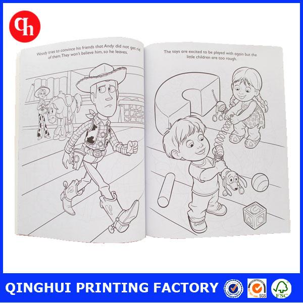 2016 custom children coloring book printing - Color Book Printing
