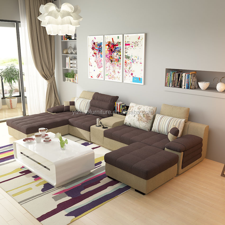 foshan big rust sectional sofa, <strong>U</strong> shape living room sofa