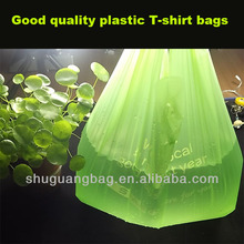 t-shirt plastic bag with low price, manufacturer in china