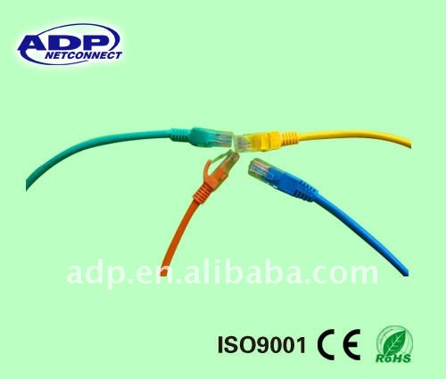 24awg Cat6 utp rj45 patch cord cable 568b