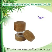 BCF-002 3g Hot selling 3ml bamboo cream jar with high quality