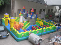 inflatable fun city amusement park, bouncy castle game