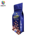 Wonderful Printing Food Grade Flat Bottom Aluminium Foil 1kg Coffee Beans Packaging Bag with Zipper