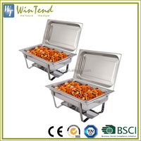 Steel buffet set hot fried chicken display insulated food warmers
