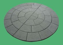 grey round flagstone stepping stones, ledgestone for paving and decoration
