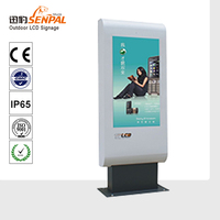 direct sun tolerant outdoor HDTV and digital signage lcd taxi top advertising
