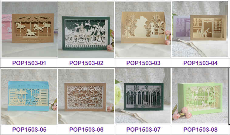 Pop up card happy new year greeting cards seasons greeting 3D card