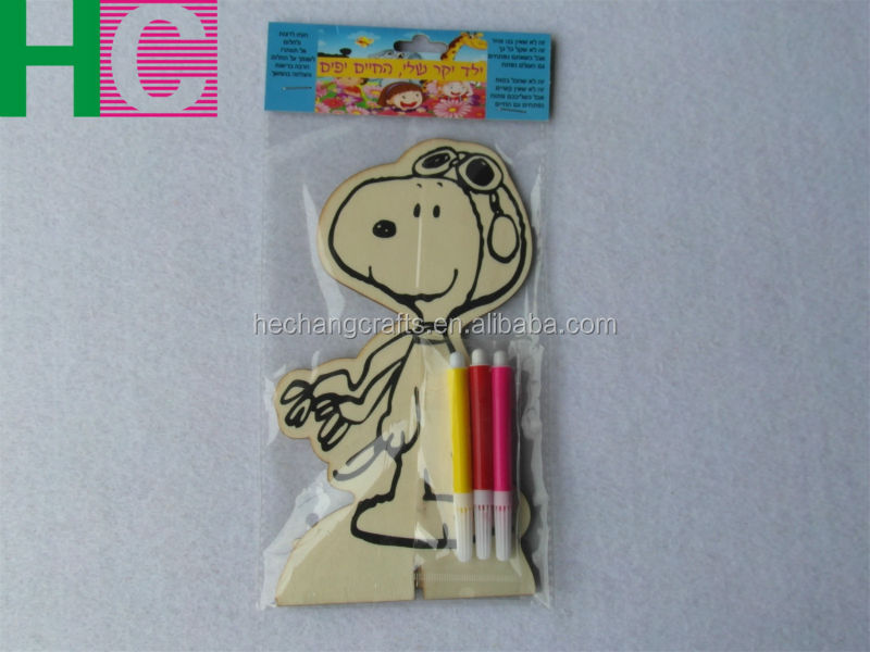 2015 home decoration carved wooden DIY products kids toy for painting
